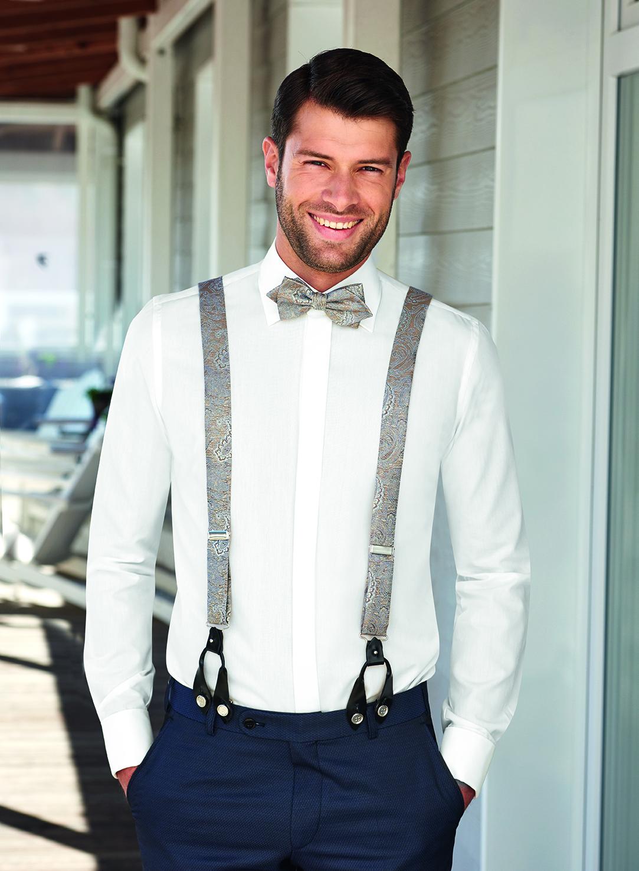 Wilvorst Männer Mode Hochzeit Bräutigam Herren Accessoires Hosenträger verschiedene Modelle mit passender Fliege