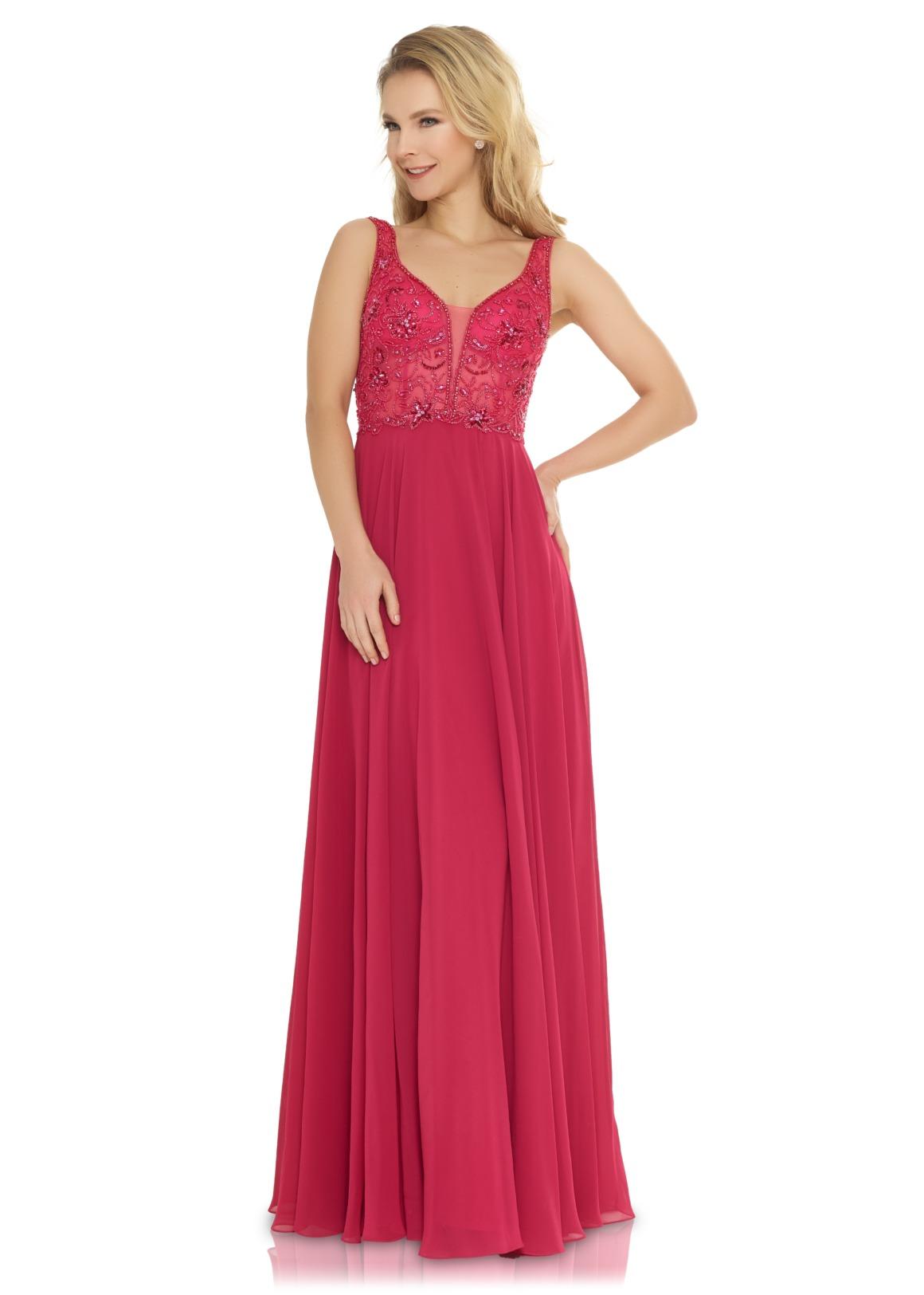 Brautjungfern Kleid Hochzeit Mode klassisch Trauzeugin Brides Maid  berry rot soft pastell