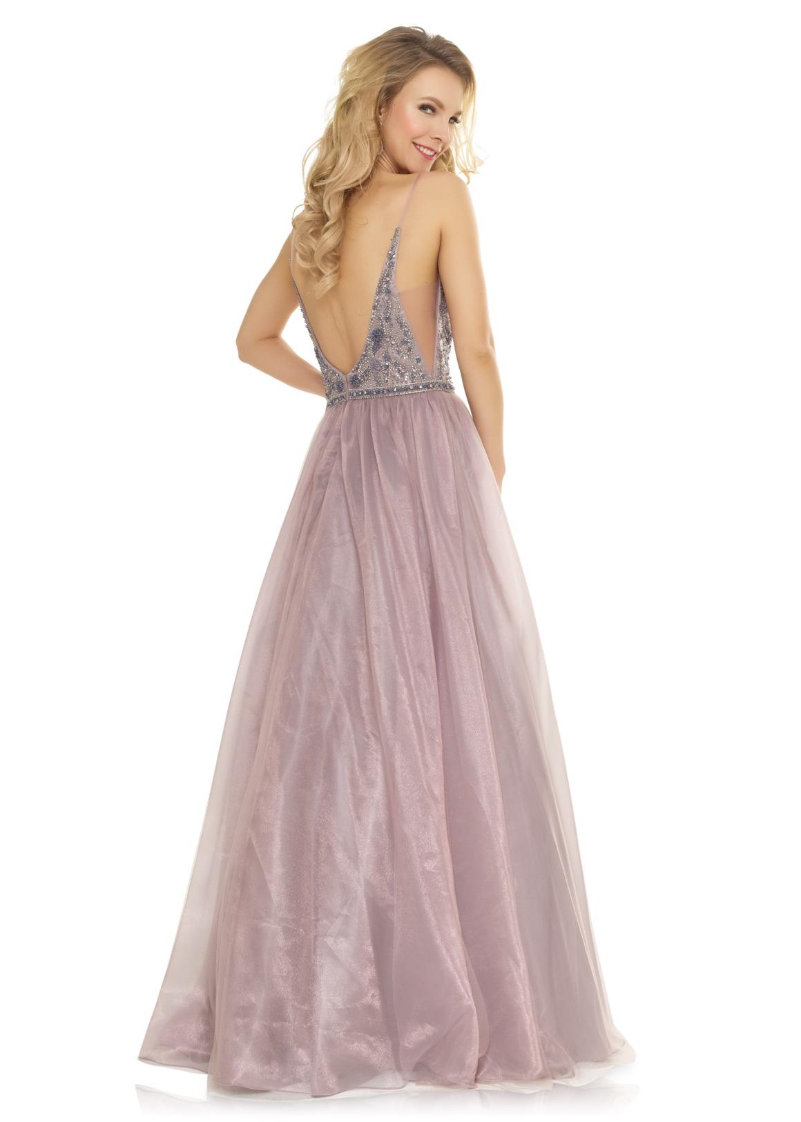 Schützenfest Königinnenkleid Hofdamen Hofstaat Kleid rose mauve toller Rücken Tüllrock elegant glitzer V-Ausschnitt