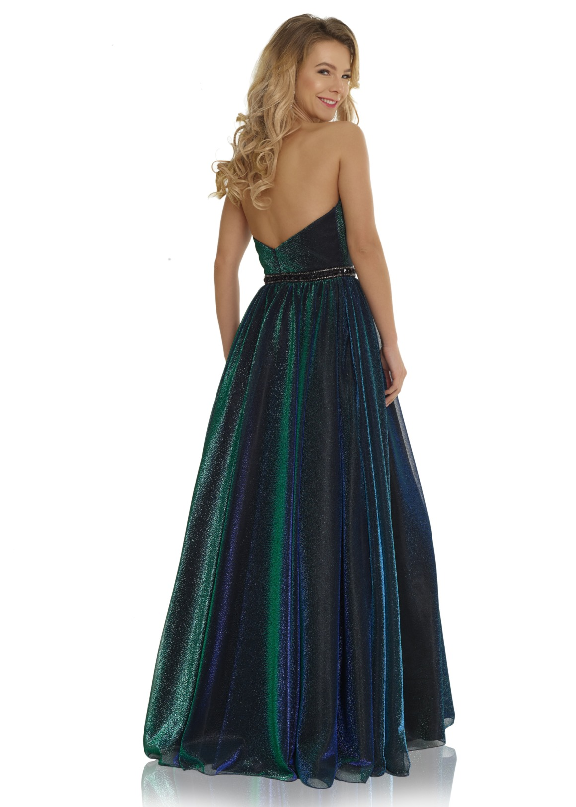 Schützenfest Königinnenkleid Hofdamen Hofstaat Kleid corsage dunkelgrün grün rückenansicht