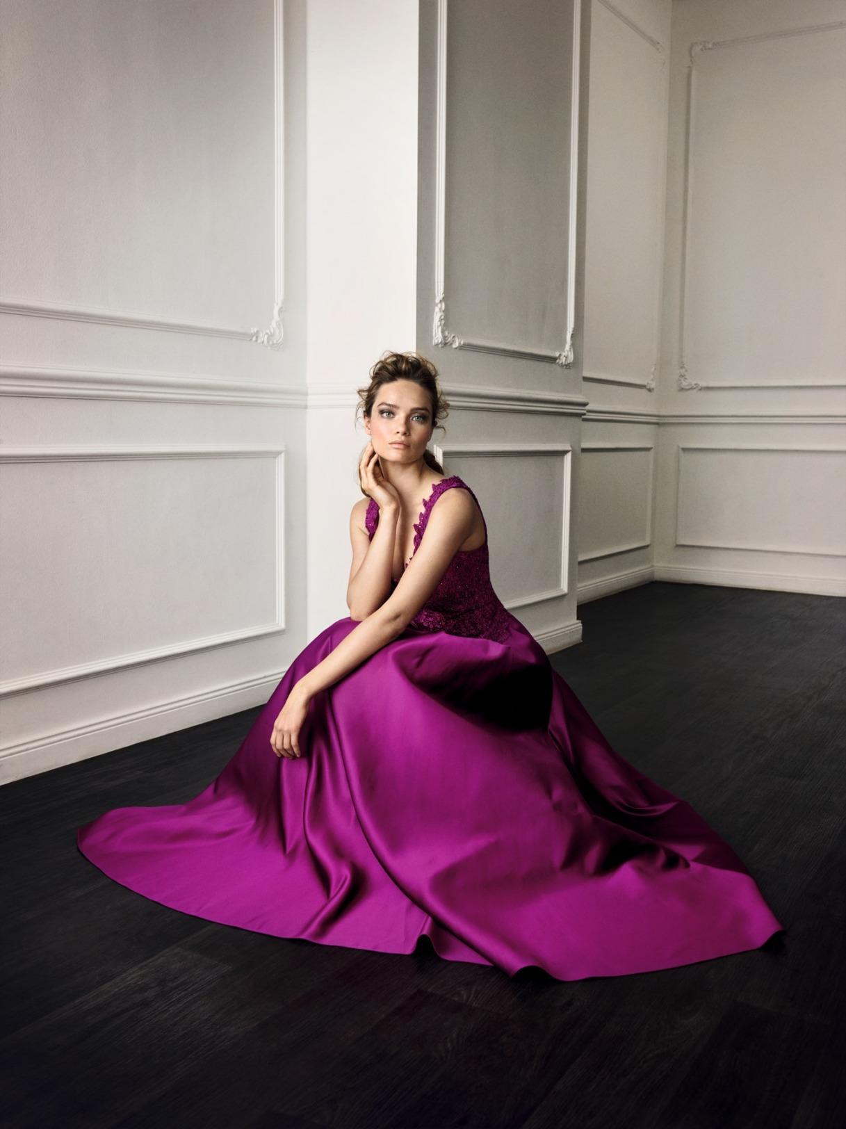 Vera Mont Kleid Anlass Mode Hochzeit Festmode Damen für Eltern pink mit V-Ausschnitt