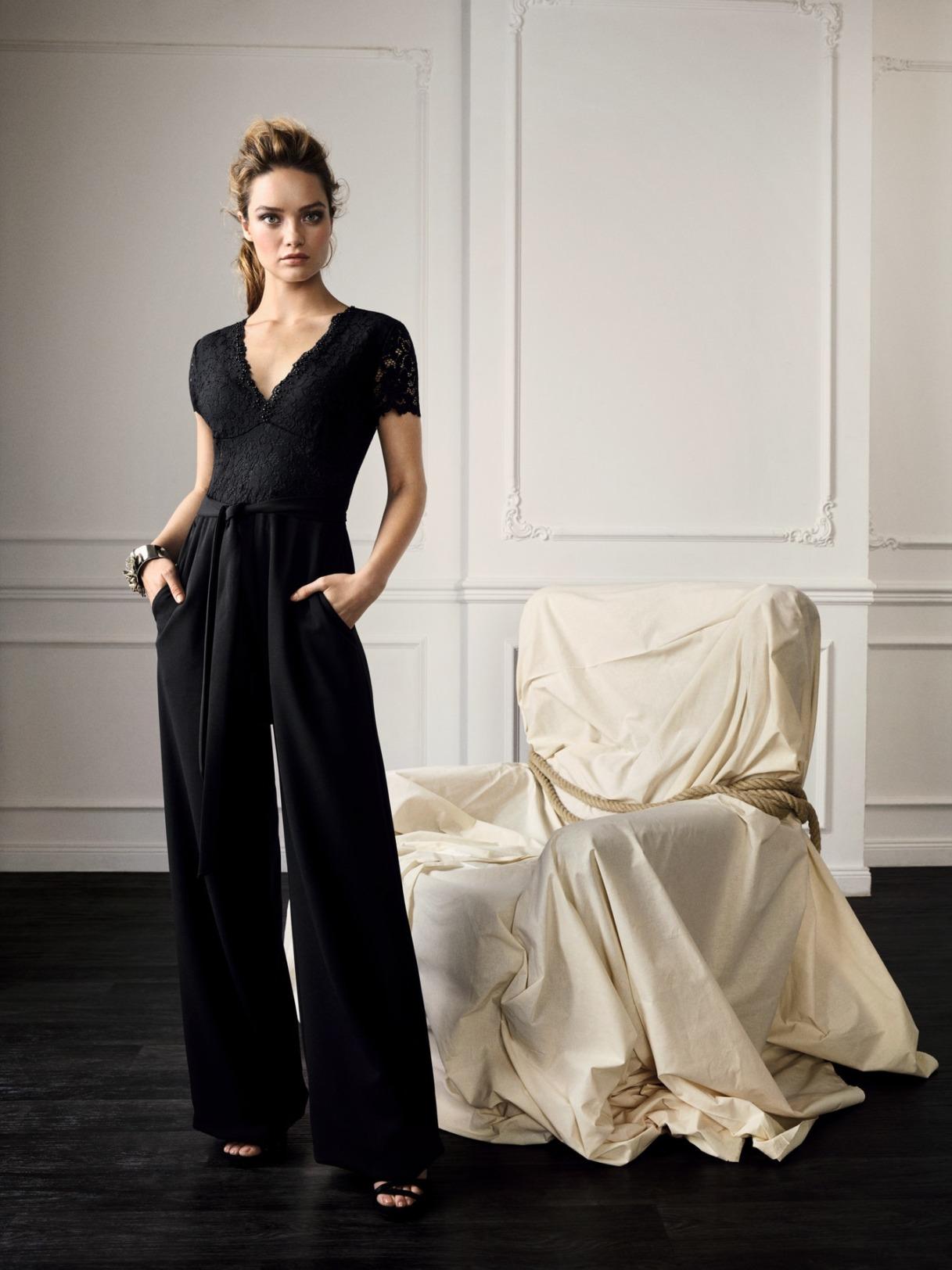 Hosenanzug Jumpsuit Anlass Mode für Damen Abiball Konfirmation Hochzeit Gast Kleidung für Eltern schwarz mit Arm Vera Mont
