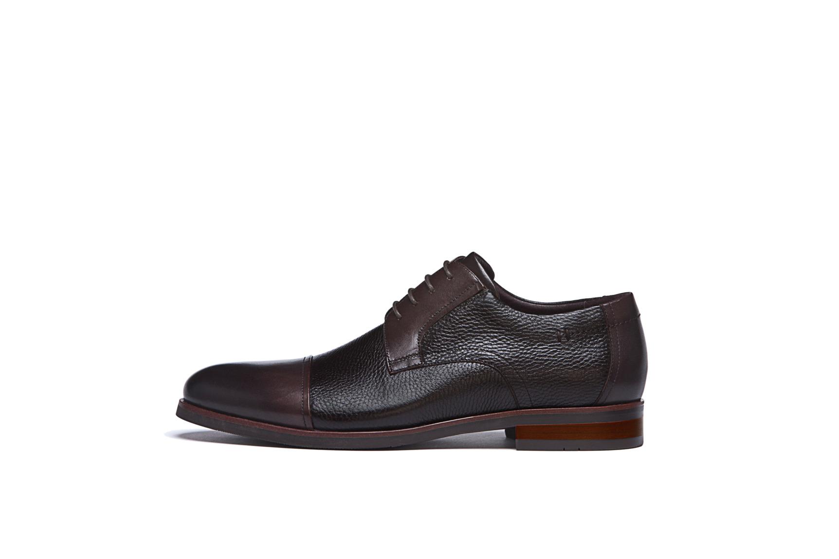 Modische Schuhe für den Bräutigam von Digel Modell SINGLE in der Kombination schwarz und braun in Nubuklederoptik