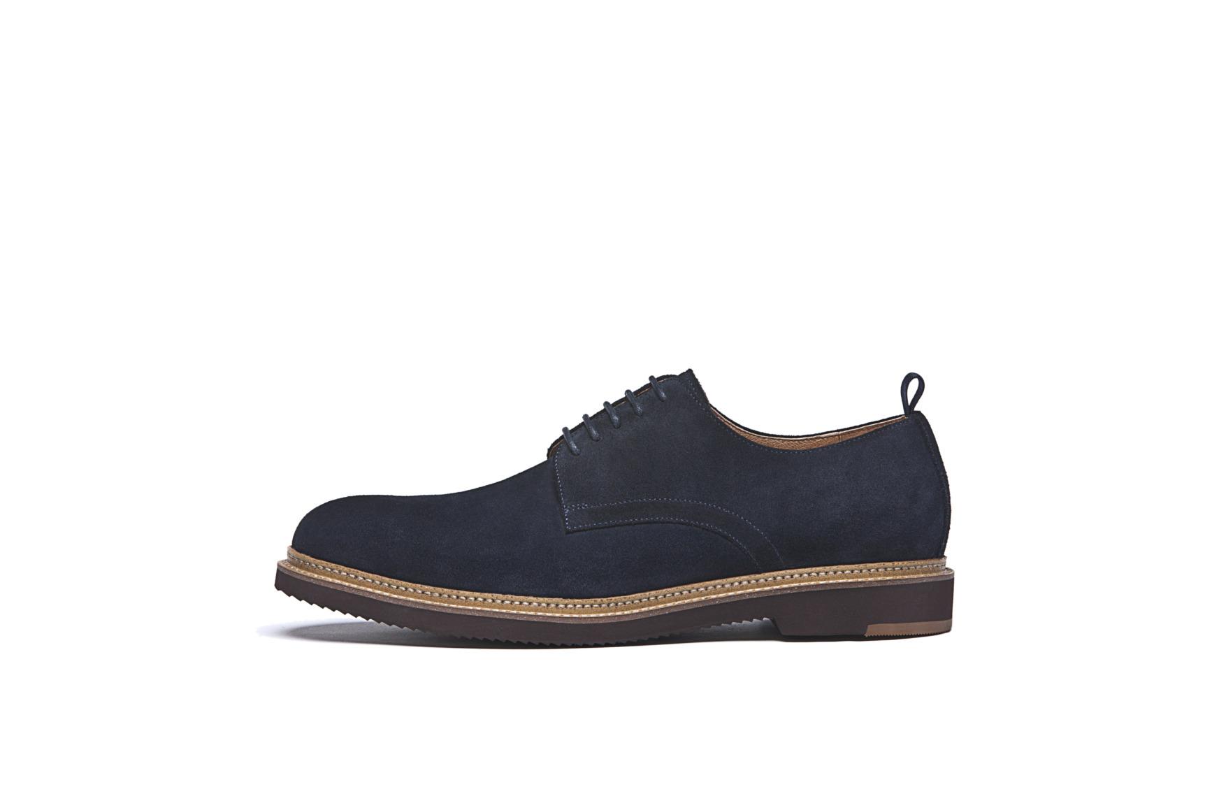 Modische Schuhe für den Bräutigam von Digel Modell SCORE in dunkelblau aus feinem Wildleder
