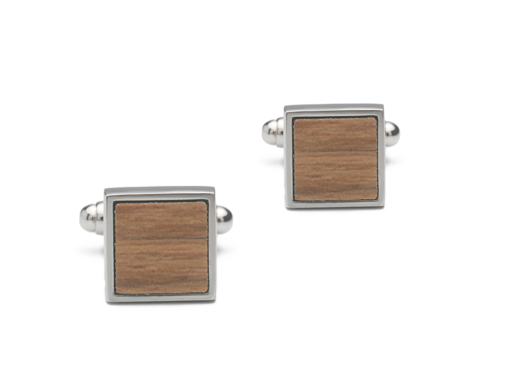 Bräutigam  Mode Accessoire Manschettenknopf aus Holz C5-SQ-B