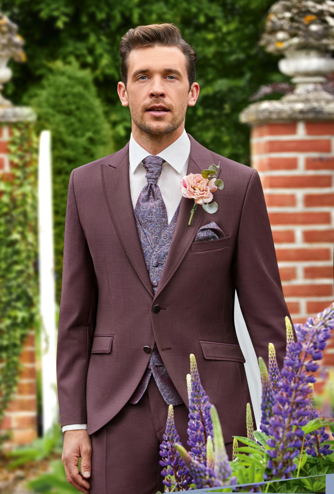 Wilvorst After Six Hochzeitsanzug Männer Mode Bräutigam klassische Form bordeaux rot wil_0121_kam_as-look-3_1