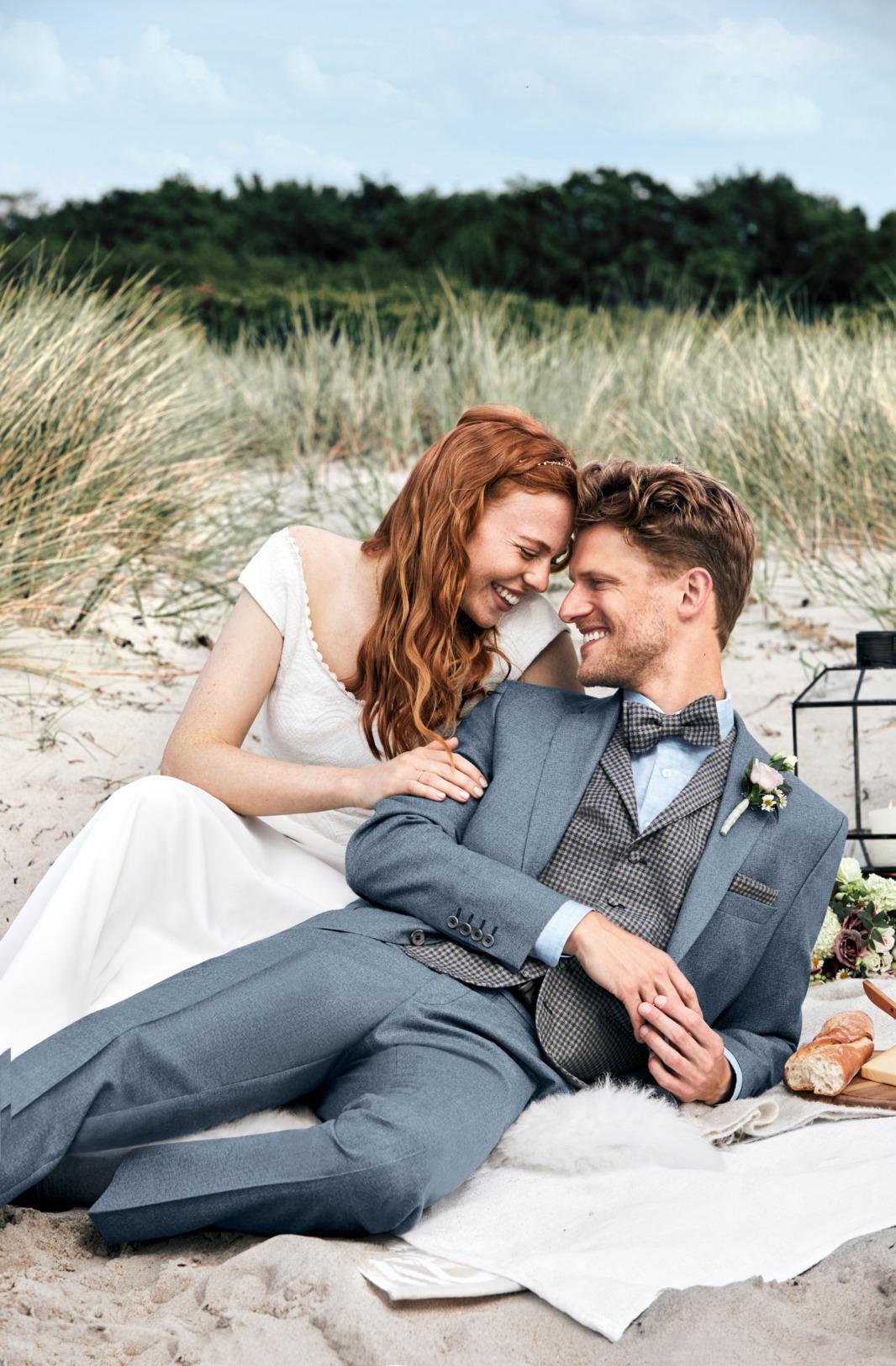 Wilvorst Green Wedding Hochzeitsanzug Männer Mode Bräutigam klassische Form vintage boho Stil mittel blau wil_0121_kam_gw-Look4_1