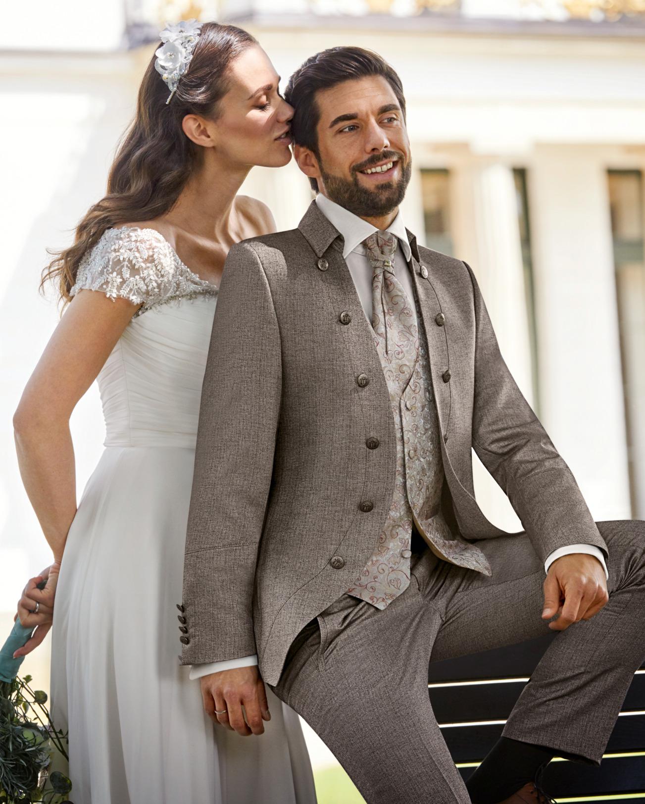 Wilvorst Tziacco Hochzeitsanzug Männer Mode Bräutigam extravagant sand naturfarben hellbraun wil_0121_kam_tz-Look5_1