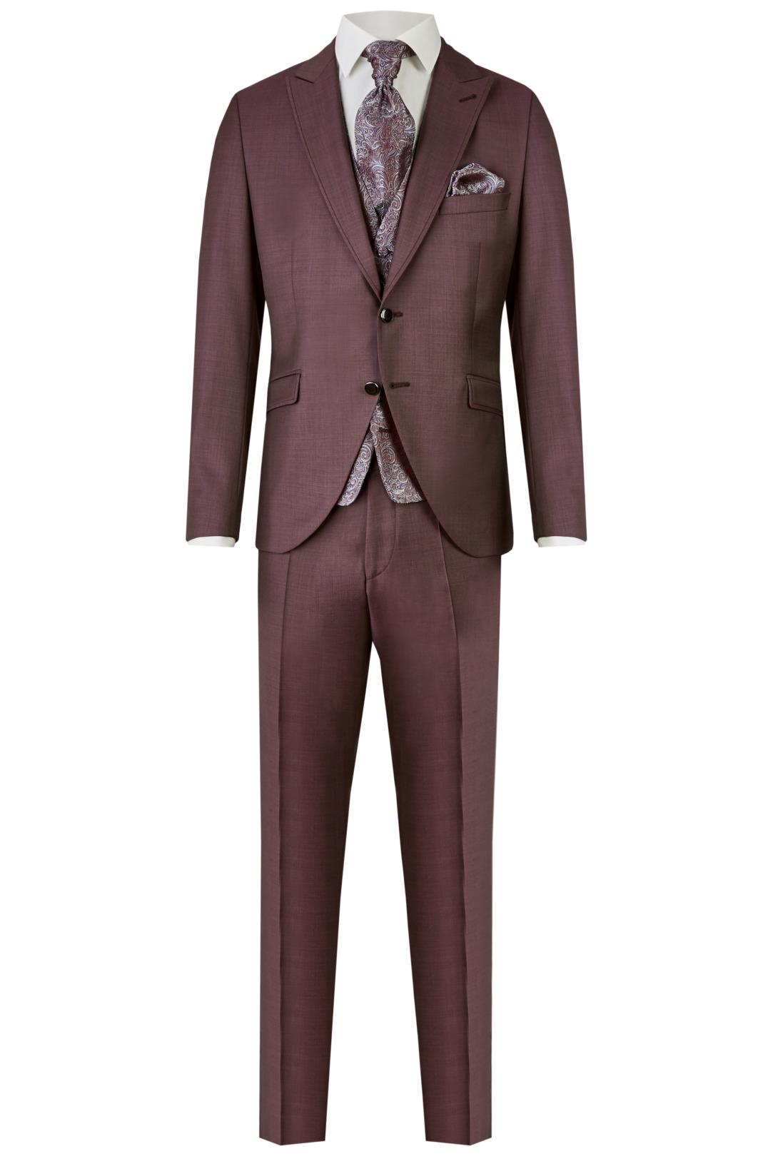 Wilvorst After Six Hochzeitsanzug Männer Mode Bräutigam klassische Form rot bordeaux wil_0121_otf_as-look-3_1