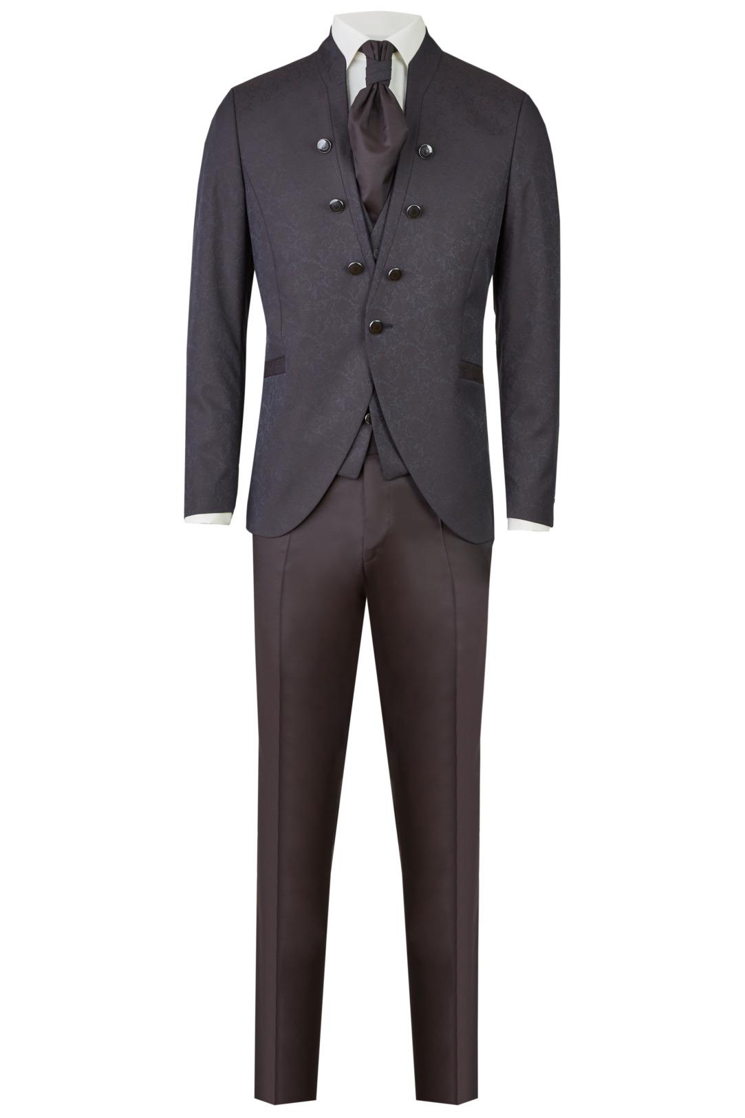 Wilvorst After Six Hochzeitsanzug Männer Mode Bräutigam klassische Form rot braun wil_0121_otf_as-look-5_1