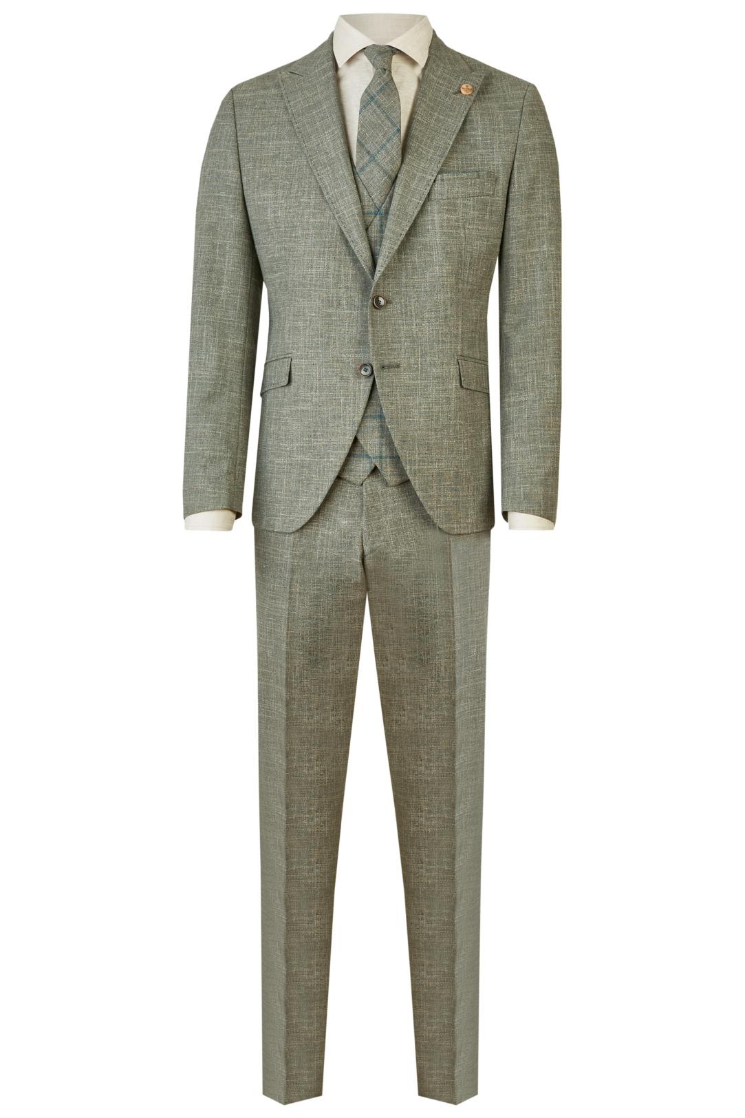 Wilvorst Green Wedding Hochzeitsanzug Männer Mode Bräutigam klassische Form vintage boho Stil hellgrün grün wil_0121_otf_gw-look-6_1