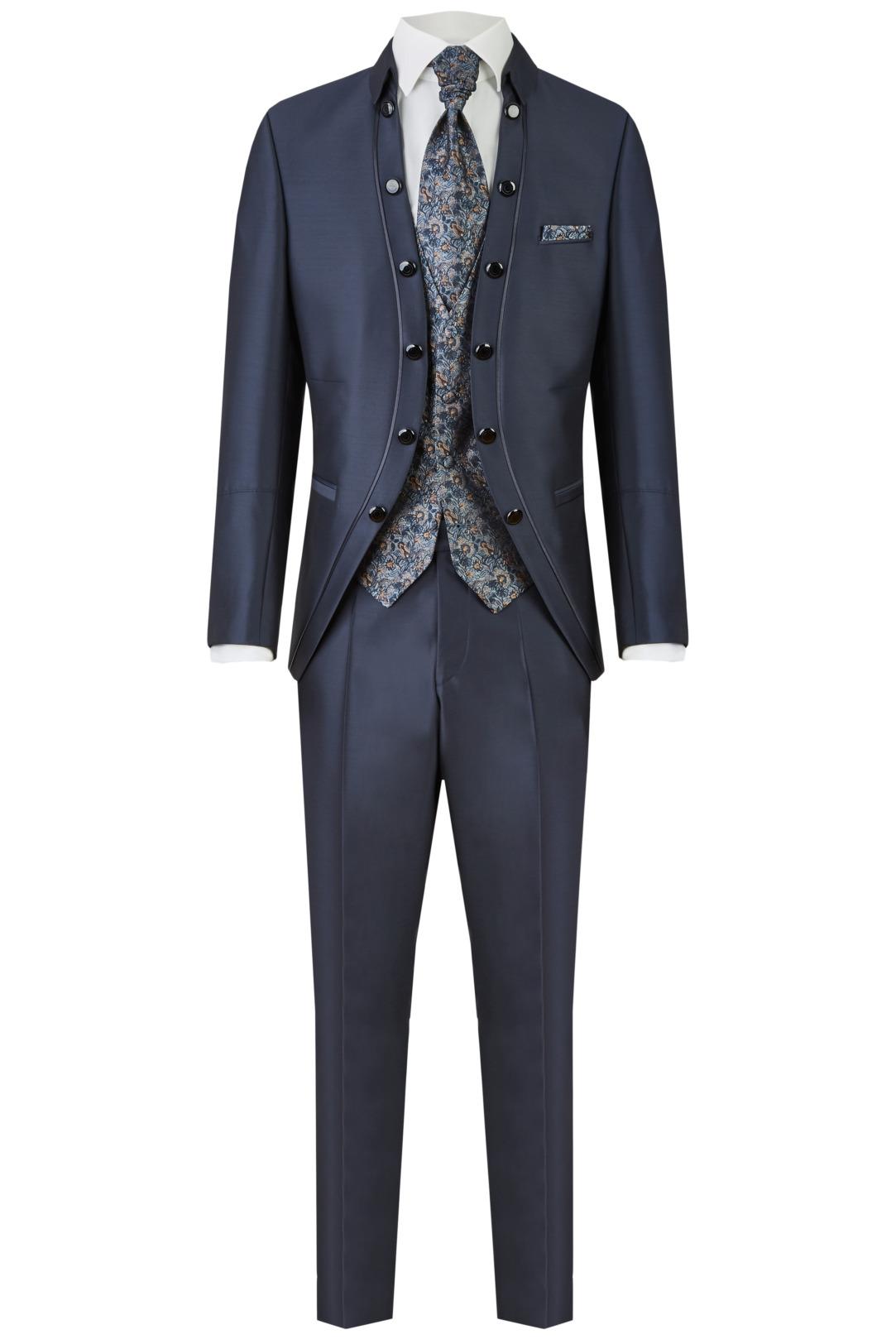 Wilvorst Tziacco Hochzeitsanzug Männer Mode Bräutigam extravagant  dunkelblau wil_0121_otf_tz-look-3_1