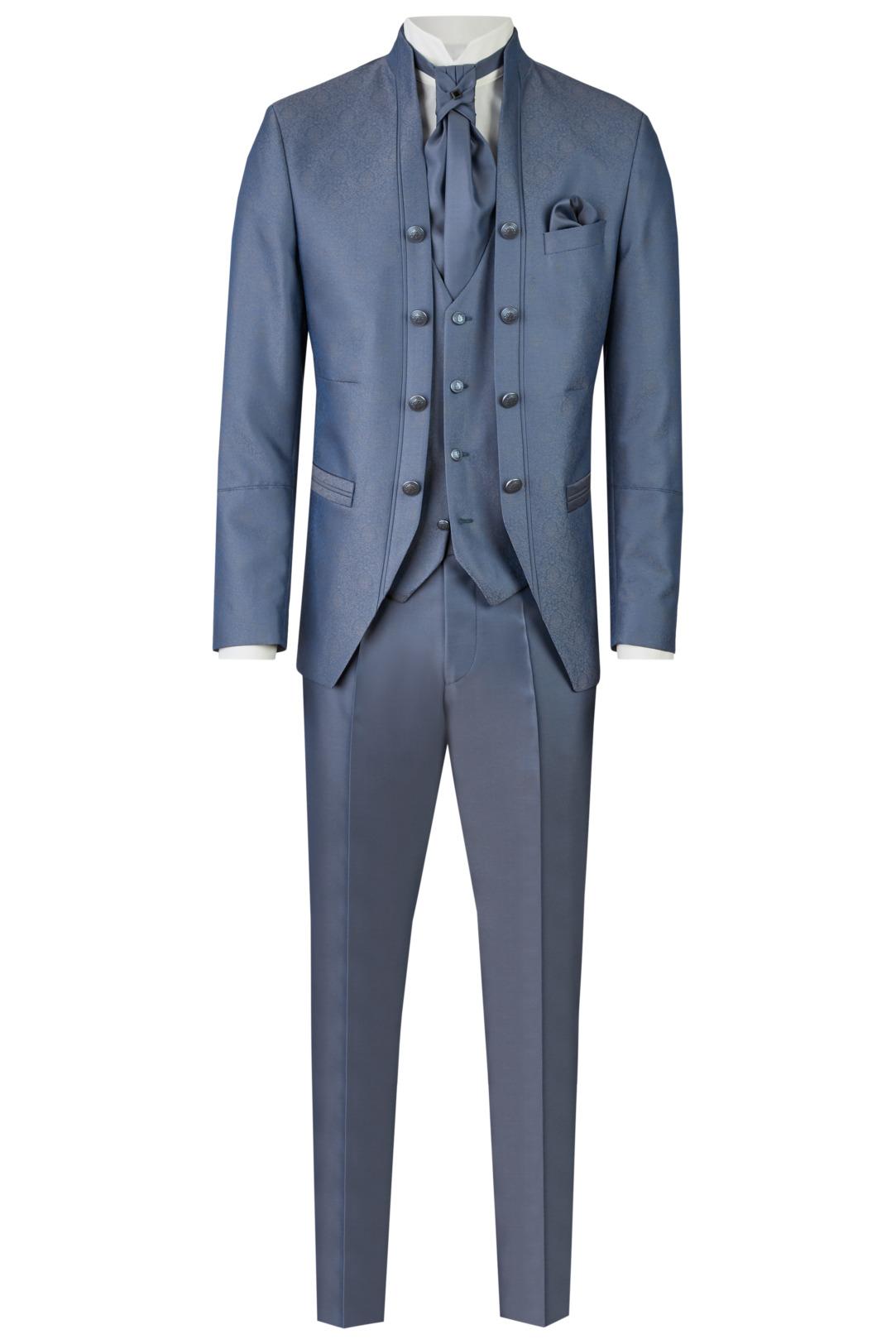 Wilvorst Tziacco Hochzeitsanzug Männer Mode Bräutigam extravagant  mittelblau blau wil_0121_otf_tz-look-4_1