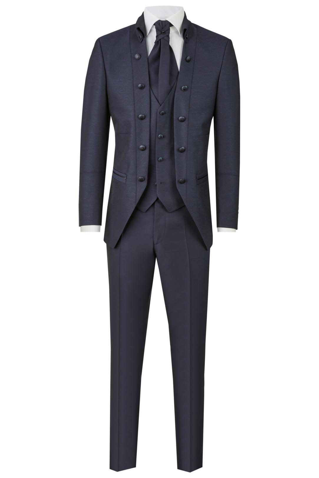 Wilvorst Tziacco Hochzeitsanzug Männer Mode Bräutigam extravagant dunkelblau wil_0121_otf_tz-look-6_1