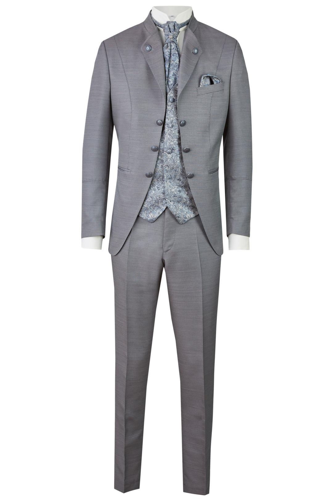 Wilvorst Tziacco Hochzeitsanzug Männer Mode Bräutigam extravagant hellgrau hellblau wil_0121_otf_tz-look-8_1