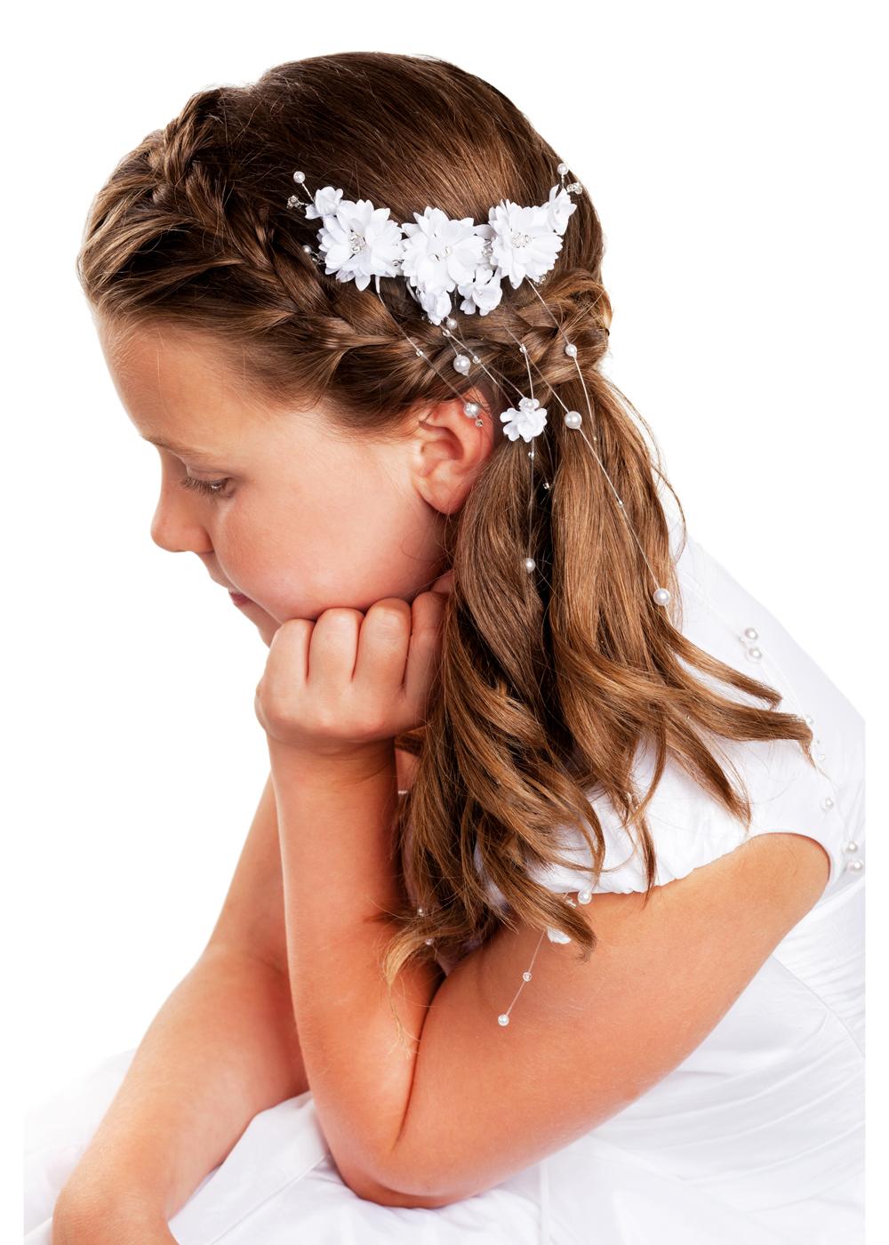 Kommunion Accessoires für Mädchen. Haarschmuck Modell222248_mak_4c