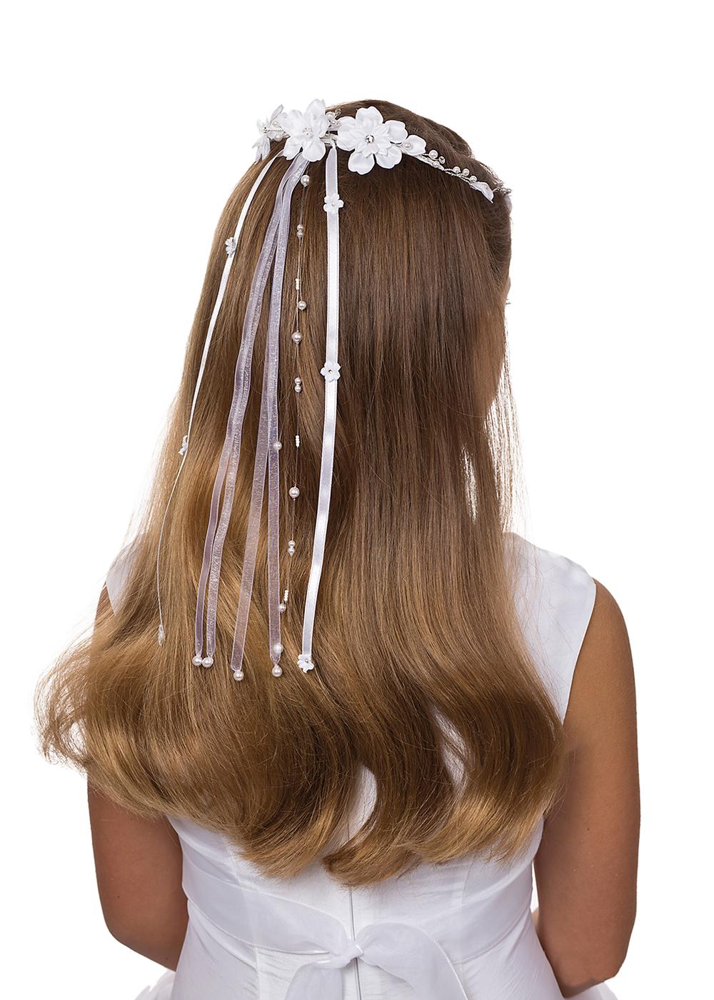 Kommunion Accessoires für Mädchen. Haarschmuck Modell   227366_mak_4c