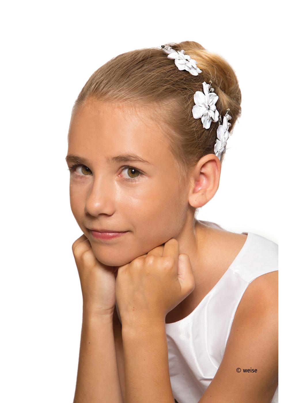 Kommunion Accessoires für Mädchen. Haarschmuck Modell 227395.