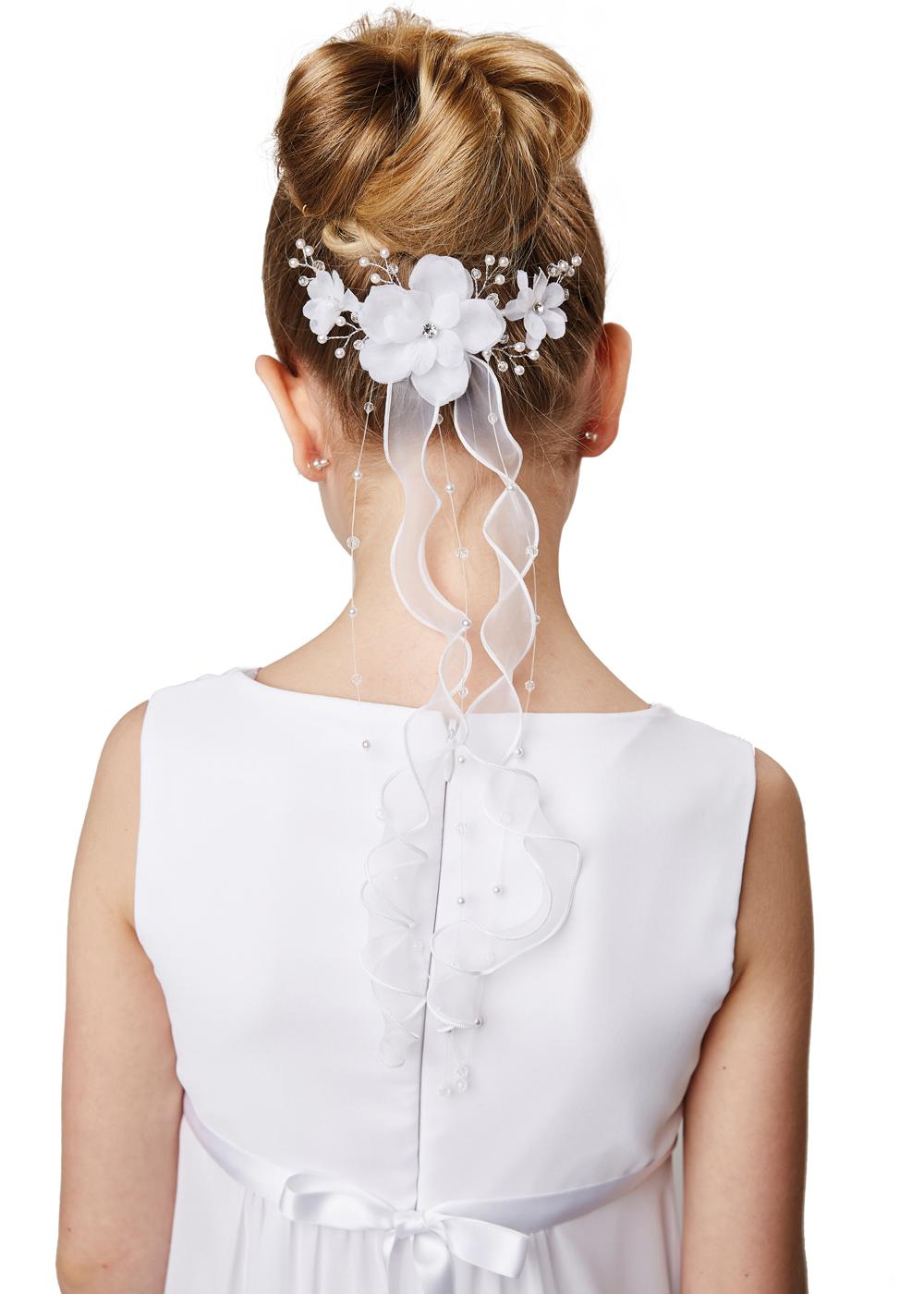 Kommunion Accessoires für Mädchen. Haarschmuck Modell 244209.