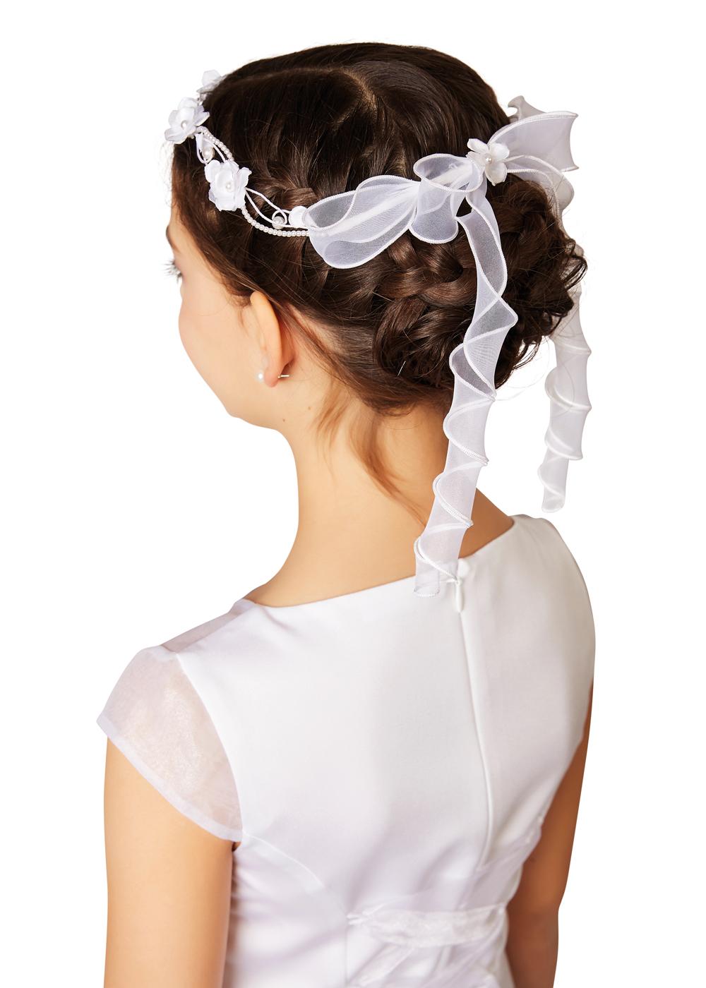 Kommunion Accessoires für Mädchen. Haarschmuck Modell 251720.