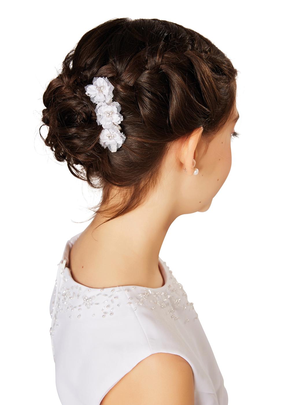 Kommunion Accessoires für Mädchen. Haarschmuck Modell 252906.