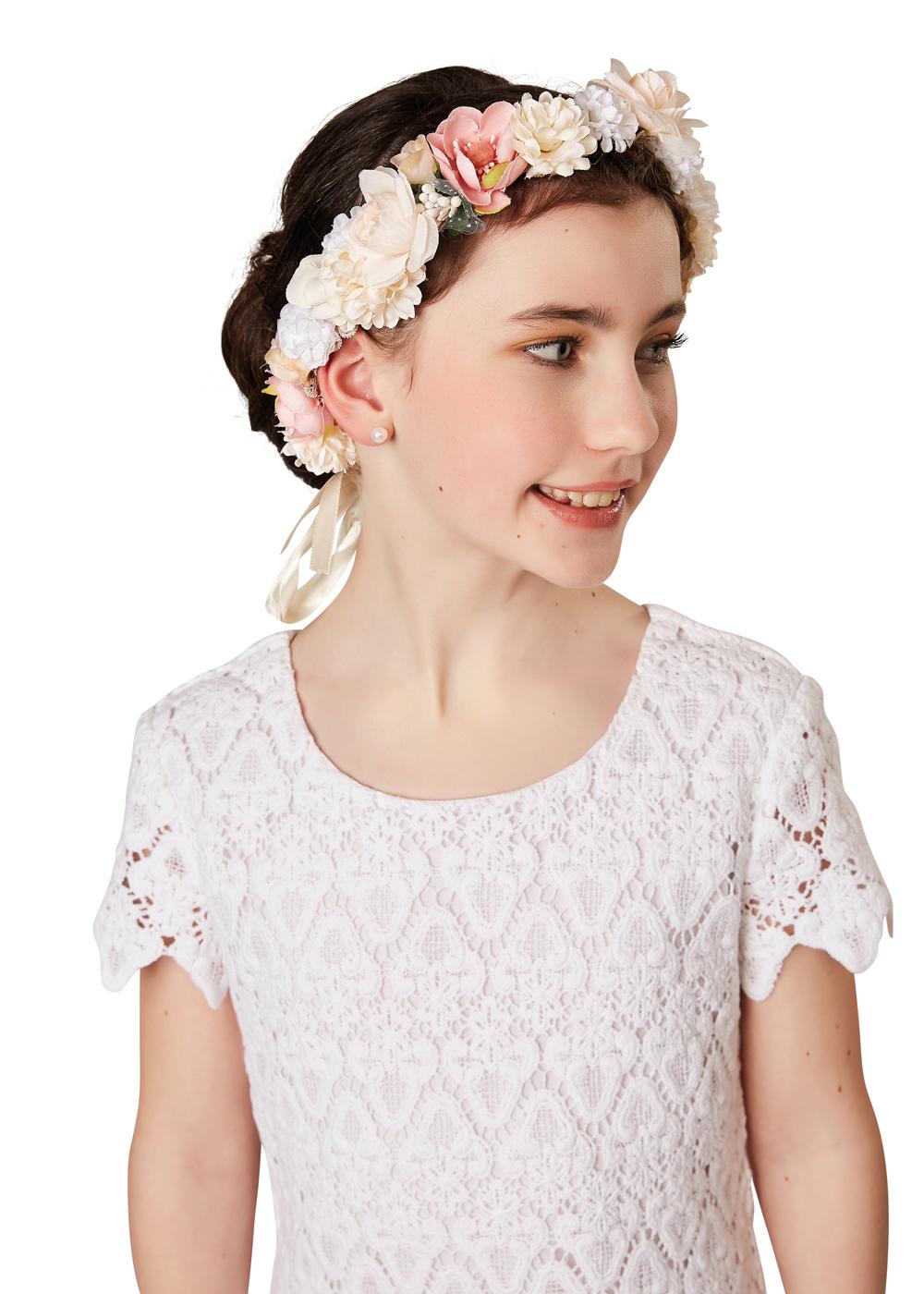Kommunion Accessoires für Mädchen. Haarschmuck Modell  254660 Mak 4c