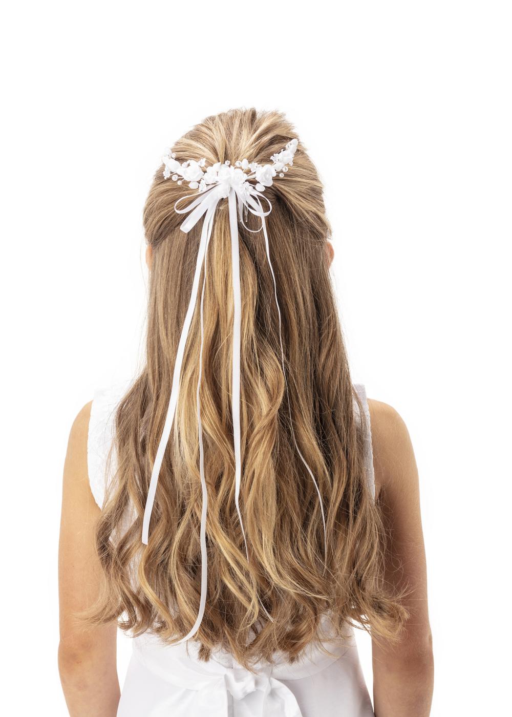 Kommunion Accessoires für Mädchen. Haarschmuck Modell 255809_001_02