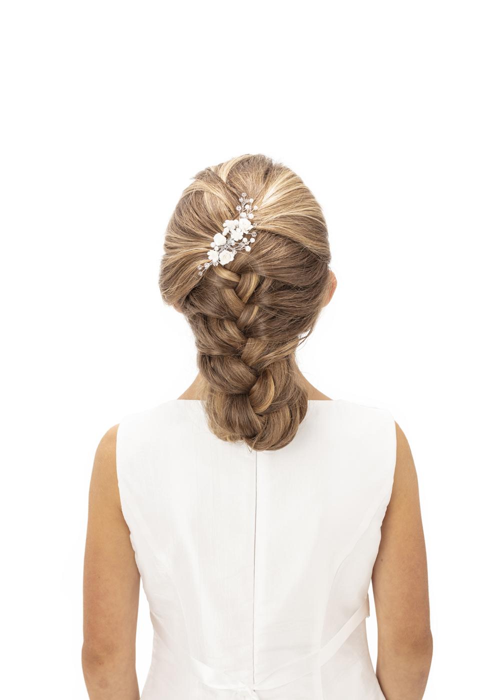 Kommunion Accessoires für Mädchen. Haarschmuck Modell 256509.