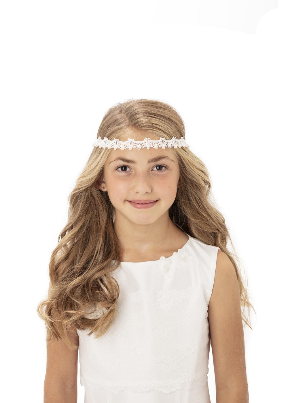Süßes Stirnband - Kommunion Accessoires für Mädchen - Haarschmuck 257625 009 02